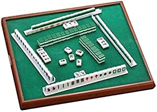 Mahjong Small-Size Set, 13x13 Inch Table, Table Game, Traditional Chinese Asian Game, Tile-Based Game, Majiang