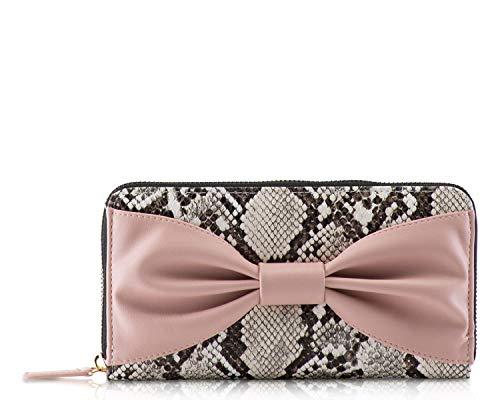 Betsey Johnson Zip Around Wallet, Multi Snake Bownanza, One Size