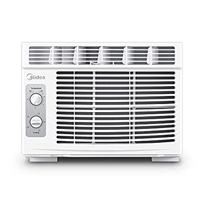 MIDEA MAW06R1BWT Window Air Conditioner 6000 BTU Easycool AC (Cooling, Dehumidifier and Fan Functions) for Rooms up to 250 Sq, ft. with Remote Control