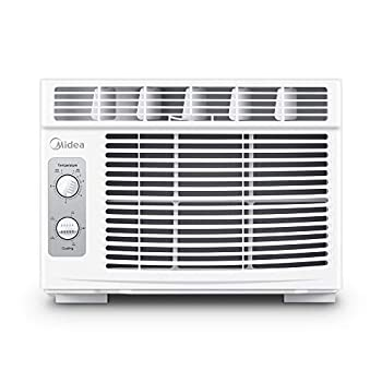 MIDEA 5,000 BTU EasyCool Window Air Conditioner and Fan-Cools Up to 150 Square Feet with Easy to Use Mechanical Controls and A Reusable Filter 5000 White