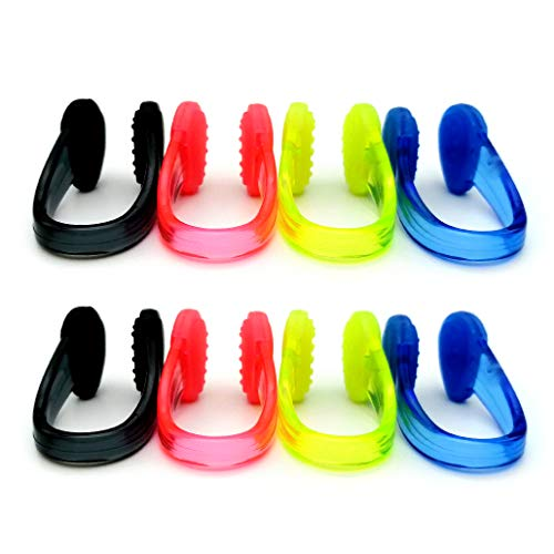Zooshine 8PCS Waterproof Non-Slip Swimming Nose Clips Dotted Surface Pool Nose Plug for Kids Adults Protect Your Nose in Water Sports