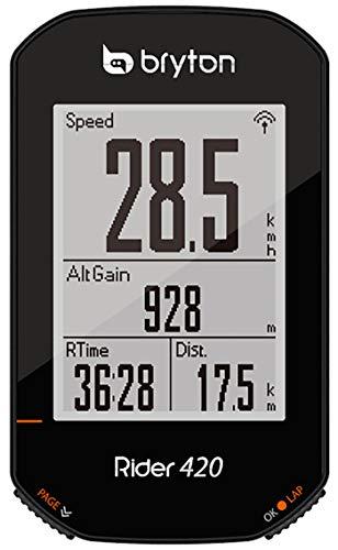 Bryton 420E Rider, Unisex Adulto, Nero, 83.9x49.9x16.9