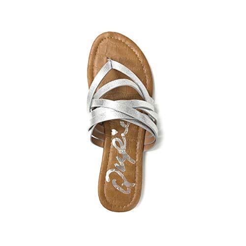 Qupid ARCHER-211 Strappy Metallic Sandals