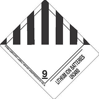GC Labels-L322P3044, Lithium Ion Batteries UN3480, Roll of 500 Labels