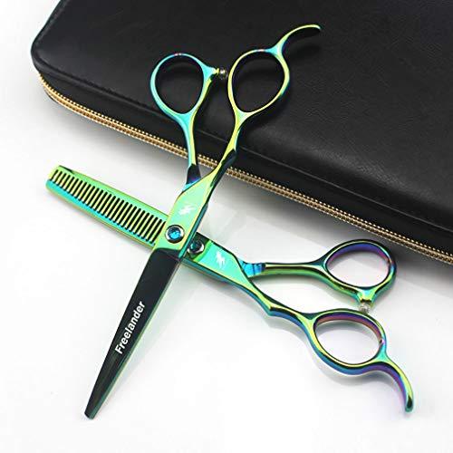 HXIAOQ Tijeras de Adelgazamiento Profesional para peluquería de 6.0 Pulgadas Tijeras de peluquería para texturizar/Mezclar para Estilista o Uso doméstico Tijeras para Zurdos