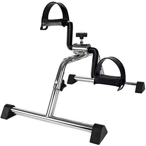 Vaunn Medical Basic Pedal Exerciser Chrome Frame (Exercise Peddler - Simple & Quick Assembly)