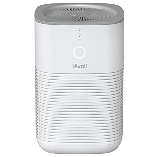 Luftreiniger Allergie Air Purifier für Wohnung Raucherzimmer, Levoit Luftreiniger mit Schlafmodus, dualen HEPA & Aktivkohlefilter gegen Staub Pollen Gerüche Tierhaare, für Allergiker Raucher,ozonfrei