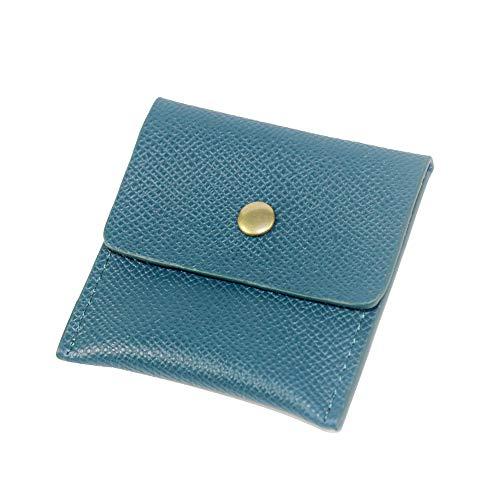 携帯灰皿 高級 PU革 ポータブル ポケット アウトドア おしゃれ メンズ 3色 (青)