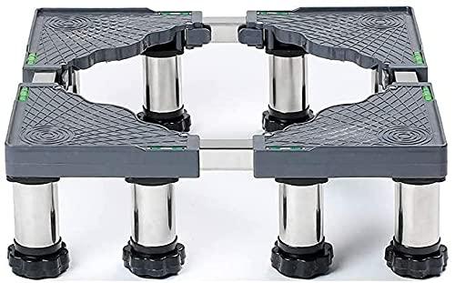 Ghongrm Base ajustable para la secadora 4/8/12 Pies Máquina de lavado Soporte de base 14-17 cm Soporte de refrigerador Soporte de la lavandería Lavadora Soporte anti-vibración para cocinas de nevera L