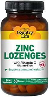 COUNTRY LIFE VITAMINS ZINC LOZENGES,CHERRY, 60 TAB