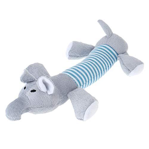 Plüsch-Spielzeug für Welpen Haustier Knoten Seil Spielzeug quietschende Plüsch Chew Spielzeug für kleine Mittel große Hunde Welpen-ELEFON