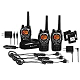 Midland 50 Channel Waterproof GMRS Two-Way Radio - Long Range Walkie Talkie with 142 Priva...