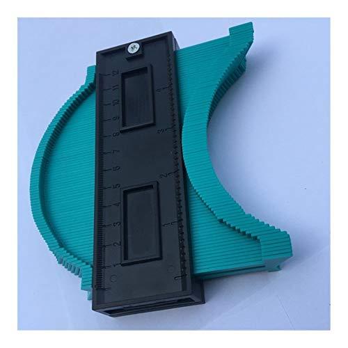 QWSX Konturlehre Plastic Gauge Contour Profile kopieren Spur Duplicator Standard 5 Zoll Breite Holzmarkierungswerkzeug Tiling Laminat Fliesen Allgemeine Werkzeuge Messgerät kopieren (Color : Green)