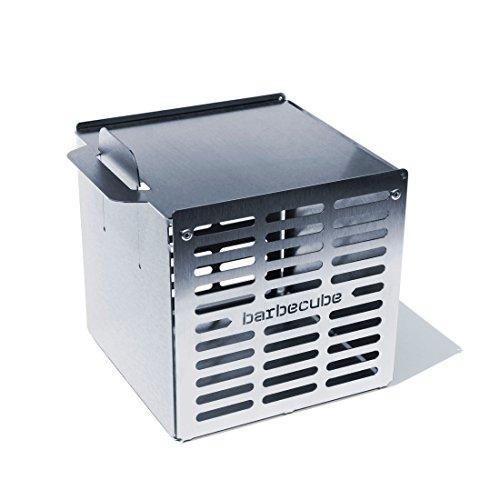 barbecube BBQ Würfel/Gemüsekorb/Grillkorb groß, Edelstahl - H 16 x B 16 x T 15,5 cm