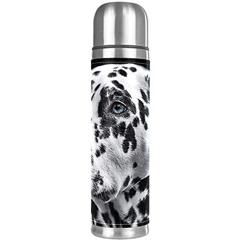 Taza térmica de acero inoxidable de alta calidad para hombres y mujeres para hacer tazas de té, botella de agua de gran capacidad, 500 ml, portatiles de perro dálmata
