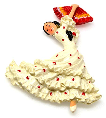 FD3 Bailarina de flamenco Imán de refrigerador Bailarín Baile español Refrigerador Insignia magnética España regalo