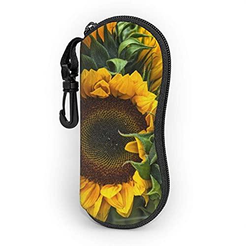 shopee-t Sunflowers Competing for Wonder and Beauty Estuche blando para gafas de sol Ultra Light Portable Neoprene Estuche para anteojos