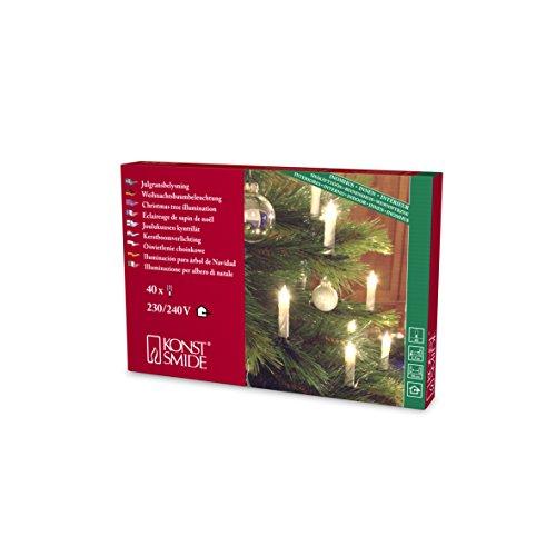Konstsmide-Catena luminosa per albero di natale-Luci chiare cavo verde