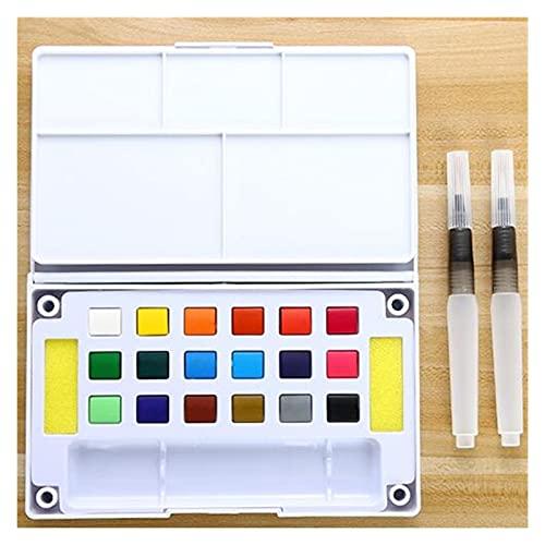ZYTANG Conjunto de Acuarelas de 12/18/24/36 Colores Viajes portátiles -Watercolor Pigment Pintado Pintura portátil con Pluma de Color de Color de Agua para artística (Color : 18 Colors)