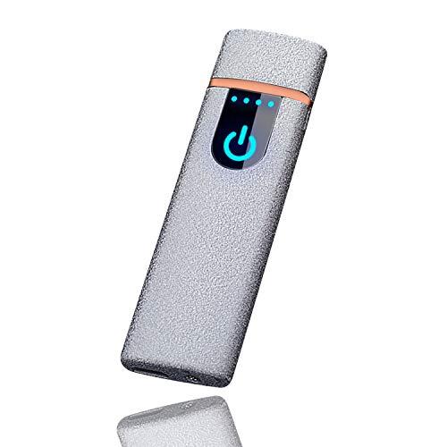 プラズマ ライター 電気 usb (艶消しシルバー)