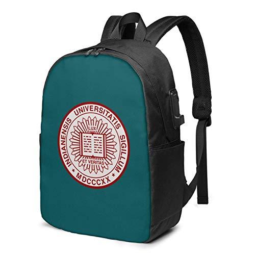 Hdadwy Mochila USB Bloomington de la Universidad de Indiana Bolsas de Mano de 17 Pulgadas Mochila para computadora portátil para Viajes, escuelas, Negocios