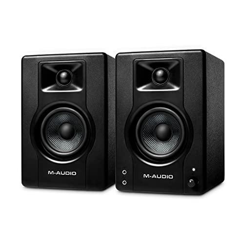 M-Audio BX3 - Aktive 120-Watt Desktop-Computerlautsprecher / Studiomonitore für Gaming, Musikproduktion, Live-Streaming und Podcasting (Paar)