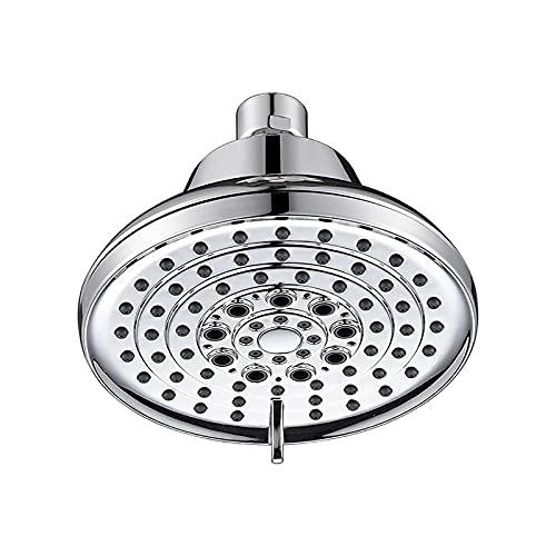 Shower Set Cromo Alcachofa de Ducha Alta Presiòn Cabezal de Ducha Ronda 5 Función Placa de Ducha ABS Alcachofa Ducha