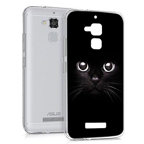 Funda ASUS Zenfone 3 MAX 5.2, Eouine Cárcasa Silicona 3D Transparente con Dibujos Suave TPU Impresión Patrón Bumper Case Cover Fundas para Movil ASUS Zenfone 3 MAX 5.2 ZC520TL (Gato Negro)