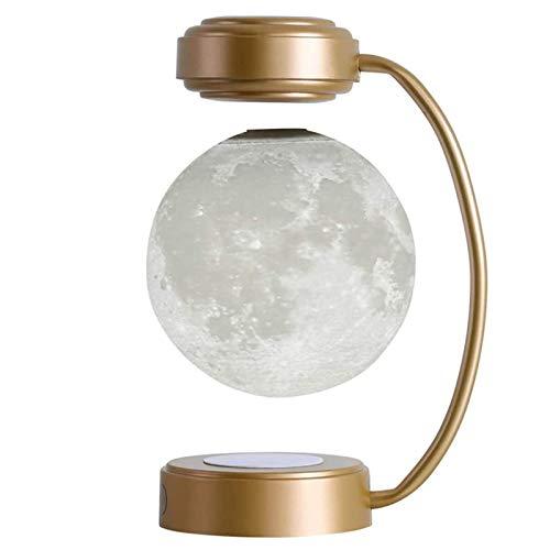 LIUJIE Luz de Luna de levitación magnética 3D Luz de Luna Colgante Creativa Luz de Noche para niños, Lámpara de mesita de Noche, Lámpara de Noche con Personalidad Creativa,Oro