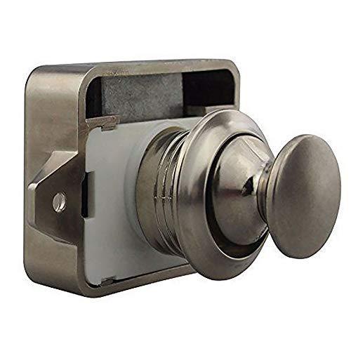 2019 Nuovo pulsante di chiusura serratura serratura armadio porta caravan barca armadio cassetto serratura scrivania cassetto serratura camper maniglia #13 (nichel perla)