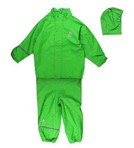 Celavi Baby Unisex Regen Anzug, Jacke und Latzhose mit Hosenträgern, Alter 9-12 Monate, Größe: 80, Farbe: Grau, 1145
