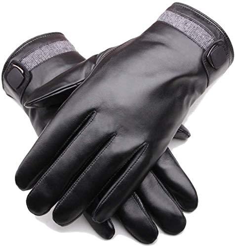Guantes para hombre Guante fría pantalla táctil de cuero de los hombres guantes de cuero de piel de oveja caliente del invierno de los hombres de guantes manopla ractor furgonetas de la motocicleta de