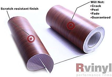 Rwraps Wood Grain Vinyl Film Sheet Wrap Roll Decal Burlwood Dark 12 x 12