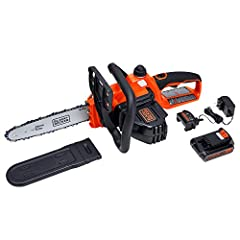20 Volt MAX lithium battery for long run time and long life stays charged up to 5 times longer 10 inches premium Oregon low kickback bar & chain Tool free blade tension system for quick adjustments Wrap around bale handle. Do not splash or immerse in...