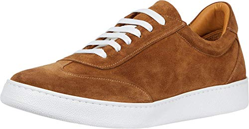 Gordon Rush Men's Tristan Fashion Sneaker. High End Made in Italy Casual Shoes with Premium Italian Calfskin Upper, Leather Lining, and Extra Light XL Cupsole. (Camel, 10)