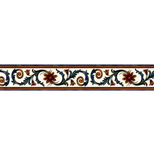 Vosarea Adesivo per bordi carta da parati Adesivi floreali autoadesivi in ??pvc impermeabile Adesivo specchio per parete in vita per la decorazione della parete della casa del bagno (10 cm x 10 m)