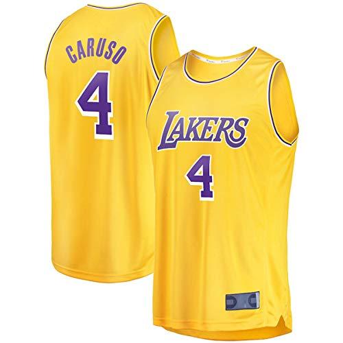 EUEU Camiseta de baloncesto al aire libre Alex Los Ángeles #4 Oro, Lakers Caruso Juventud 2020 Finals Fast Break réplica Jersey repetible Limpieza Entrenamiento Camisa Para Niños Edición Icono
