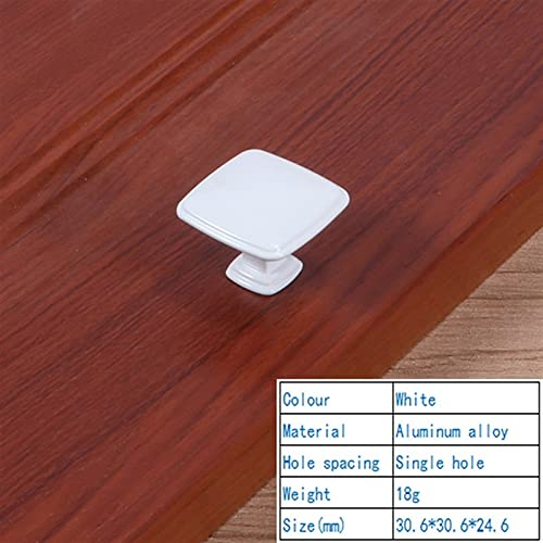 YMBHUO manija de Puerta Conveniente y Simple Mango Blanco de Marfil manija de cajón manija de Manera Simple Marfil Marfil Blanco gabinete de zapatería manija (Size : 110 Single Hole)