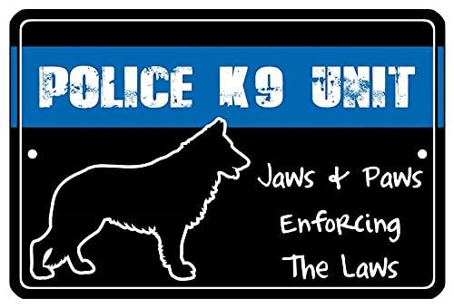 Metal Sign Police Officer Law Enforcement Thin Blue Line Hero Cop Room Door Bar Game Room K9 Unit Dog Gift Best Decoration