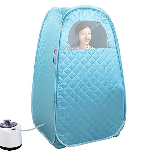 Personal Steam Sauna Portable Pot, Heighten Sauna Cabin Sauna Bath Box, Spa Steamer Sauna Tent, 1-9 Levels Temperature Adjustment (Color : Blue)