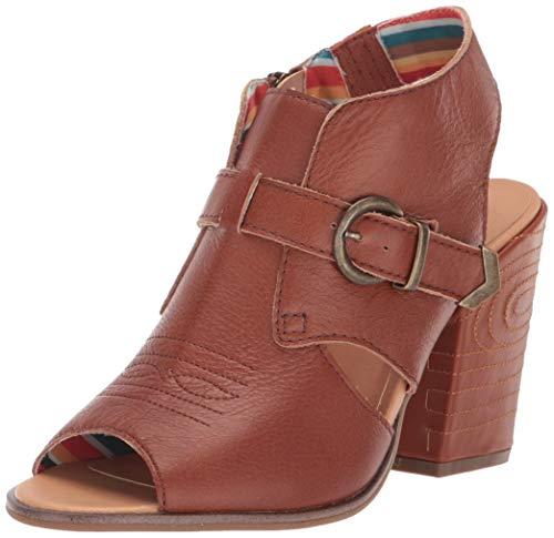 Dingo Women's Stirrup Fashion Booties Round Toe Cognac 10 M