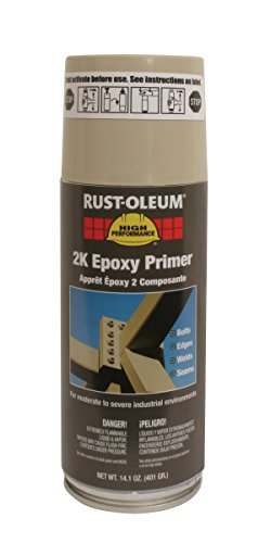 Rust-Oleum 247598 High Performance VK9300 System 2K Epoxy Primer Spray Paint, 14.1-Ounce, Beige, 6-Pack