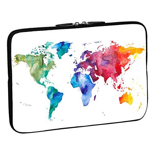 PEDEA Design Schutzhülle Notebook Tasche bis 13,3 Zoll (33,7cm), Color World