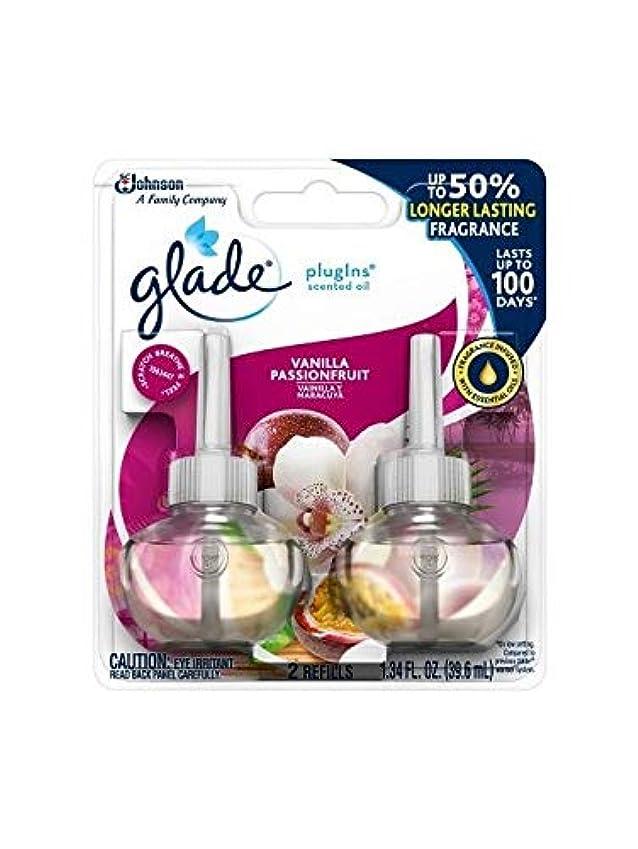 スマッシュ分析的クレデンシャル【glade/グレード】 プラグインオイル 詰替え用リフィル(2個入り) バニラパッションフルーツ Glade Plugins Scented Oil Vanilla Passion Fruit 2 refills 1.34oz(39.6ml) [並行輸入品]
