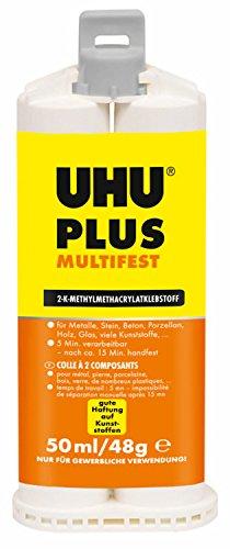 UHU 46925 Klebstoff, plus multifest, 2 Komponenten, 50 ml