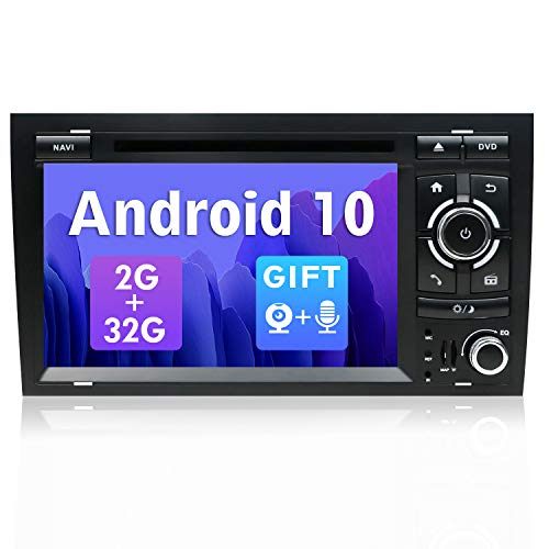 SXAUTO Android 10 Autoradio Per Audi A4/B6/B7/S4/RS4/Seat Exeo - [2G/32G] - 2 Din - GratuitiTelecamera Posteriore & Canbu - Supporto DAB 4G WiFi Bluetooth5.0 Volante MirrorLink Carpaly - 7 pollici