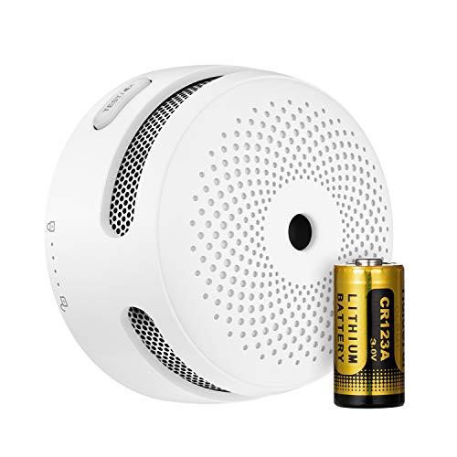 X-Sense Funkvernetzbarer Rauchmelder, Mini Feuermelder mit austauschbarer Batterie, EN 14604 Standard entsprichter Brandmelder, Rauchwarnmelder mit Fotoelektrischem Sensor, XS01-WR, 1er Set