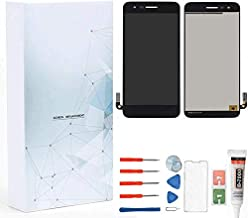Maojia Screen Replacement for LG Aristo 2 X210/SP200 Tribute Dynasty/K8 2018/Zone 4 X 210V/Fortune 2/Risio 3 Glass LCD Display Touch Digitizer Assembly Adhensive+ Tools(Black)