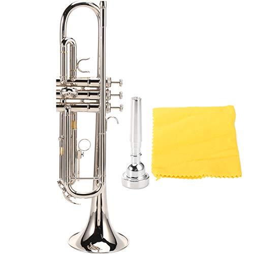 Trompeta con boquilla, exquisita trompeta profesional, para principiantes