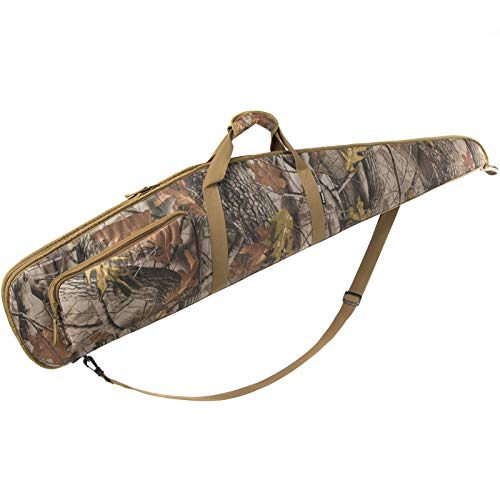 KIRIOUL Soft Rifle Case Water-Resistant Carrying Gun Case with Adjustable Shoulder Strap Thick Foam Padded Shotgun Bag for Scoped Rifles - Camouflage - 46 Inch